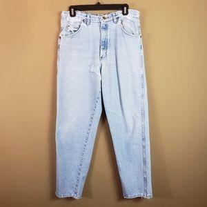 Vintage very distressed wrangler jeans